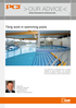 """""""Technical booklet about tiling work in swimming pools"""""""